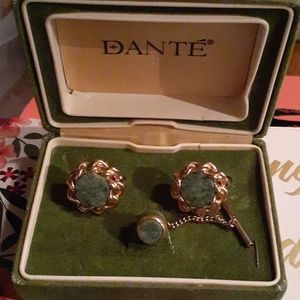 Dante Cufflinks and Tie Tack Set